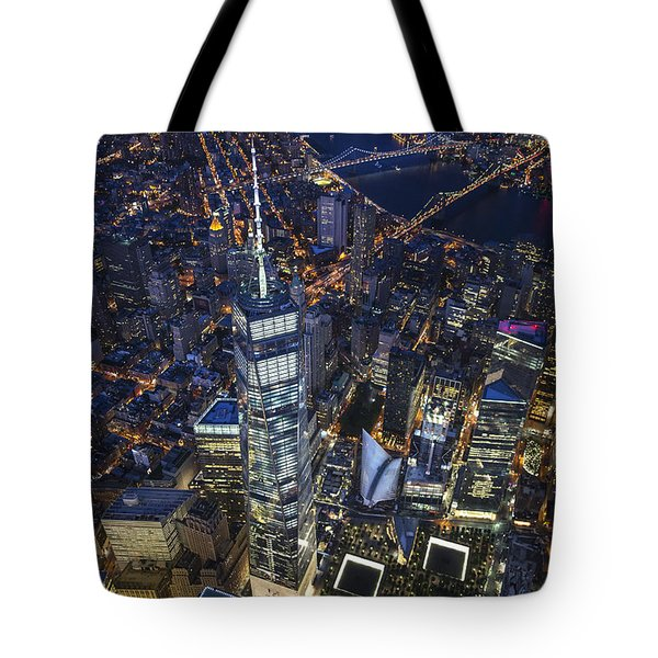 A Night In New York City Tote Bag by Roman Kurywczak
