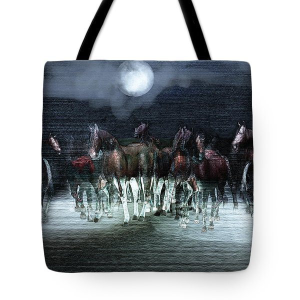 A Night Of Wild Horses Tote Bag