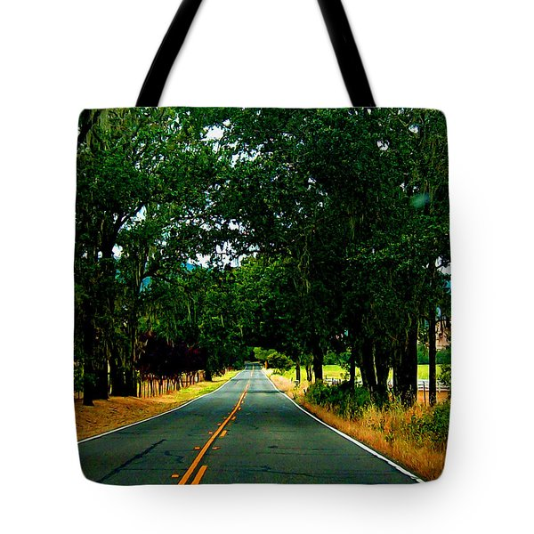A Nor Cal Country Road Tote Bag