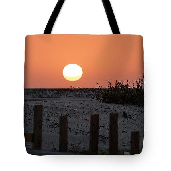 A November Sunset Scene Tote Bag