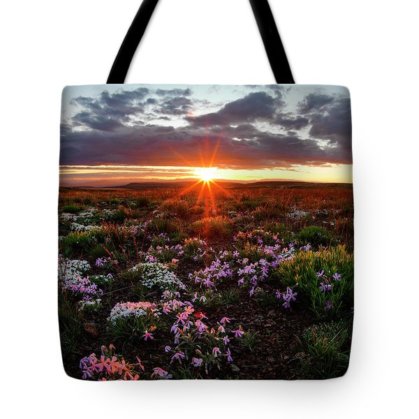 A Nuttalls Linanthastrum Morning Tote Bag by Leland D Howard
