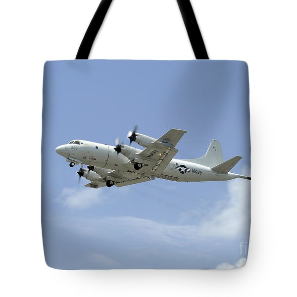A P-3c Orion Aircraft Takes Tote Bag