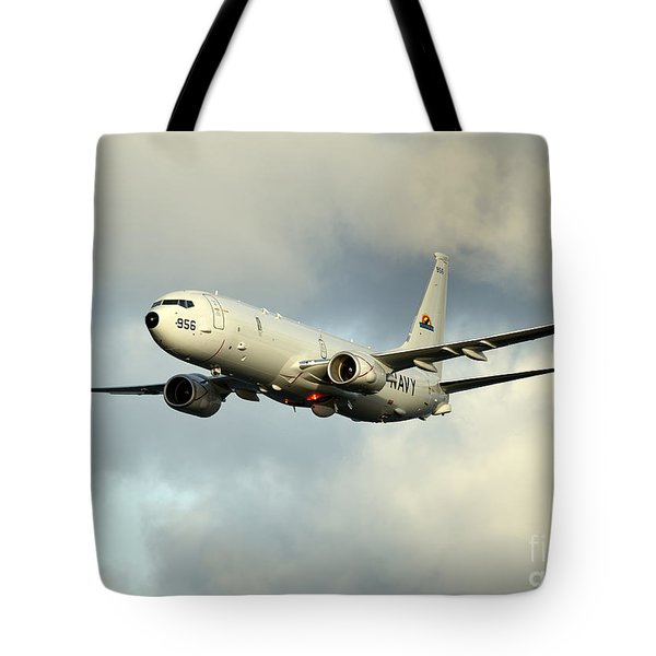 A P-8a Poseidon In Flight Tote Bag
