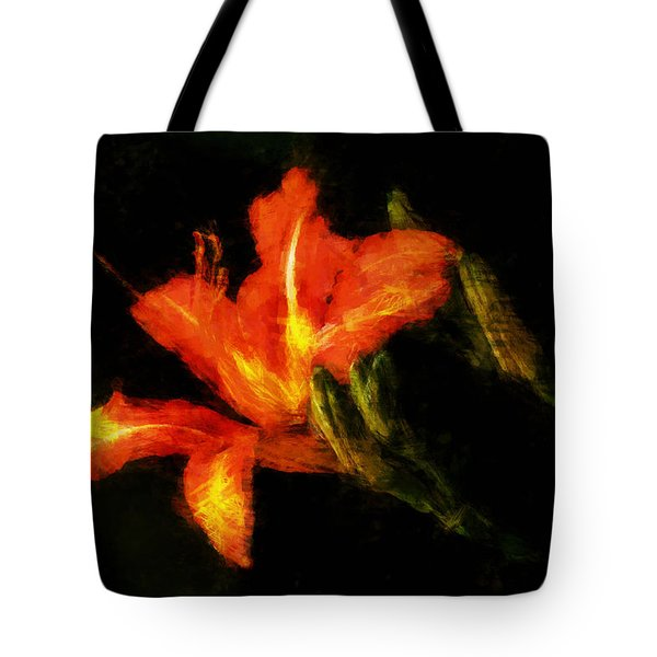 A Painted Lily Tote Bag