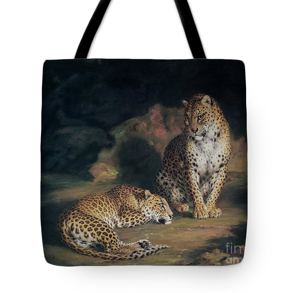 A Pair Of Leopards Tote Bag by William Huggins