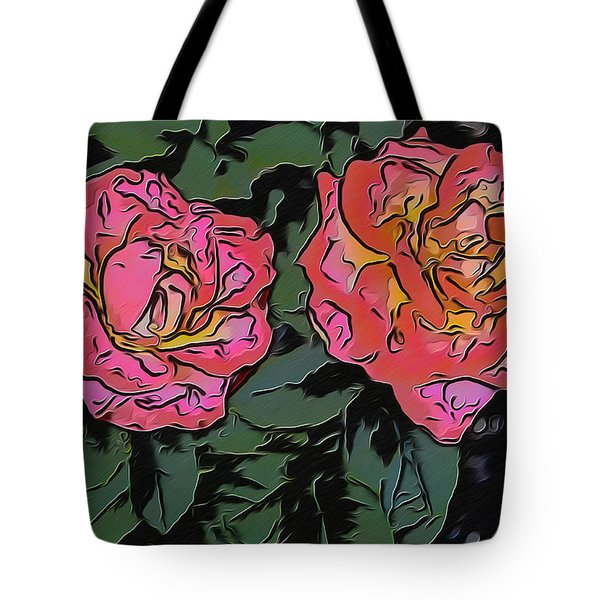 A Parrot And A Tiger Or Two Roses Tote Bag