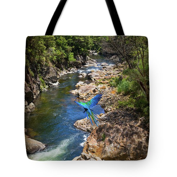 A Parrot In A New Zealand Gorge Tote Bag