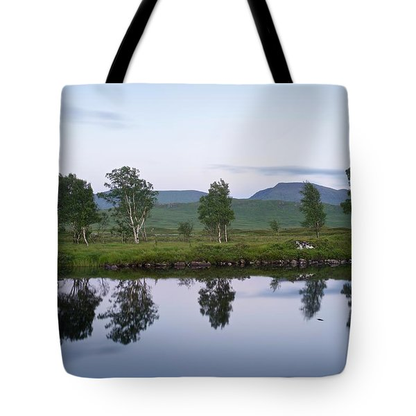 A Pastel Sky Over Loch Ba Tote Bag