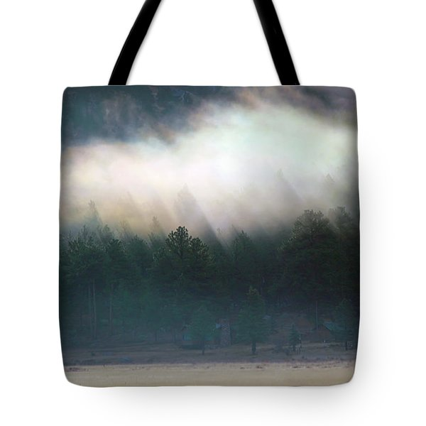 Tote Bag featuring the photograph A Patch Of Fog by Shane Bechler