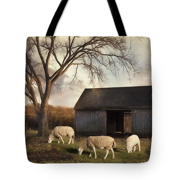 Tote Bag featuring the photograph A Patch Of Green by Robin-Lee Vieira