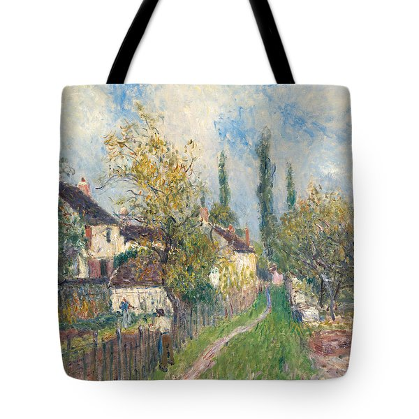 A Path At Les Sablons Tote Bag