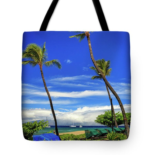 Tote Bag featuring the photograph A Path In Kaanapali by James Eddy