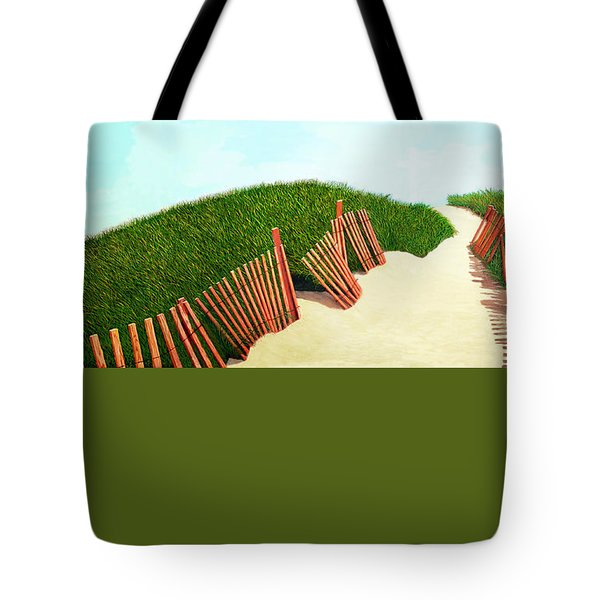 A Path Of Light Smaller View For Prints From Oil Painting Tote Bag