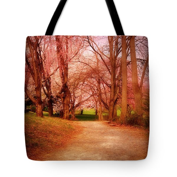 A Path To Fantasy - Holmdel Park Tote Bag by Angie Tirado