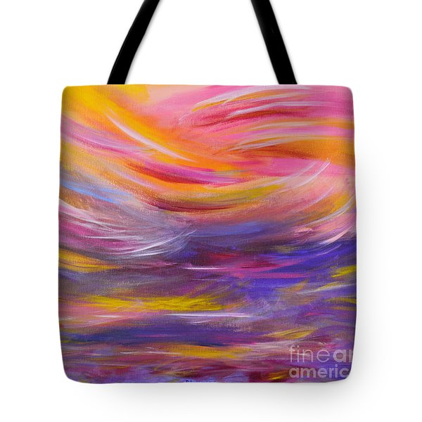 A Peaceful Heart - Abstract Painting Tote Bag