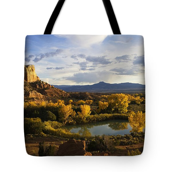 A Peaceful Landscape Stretches Tote Bag