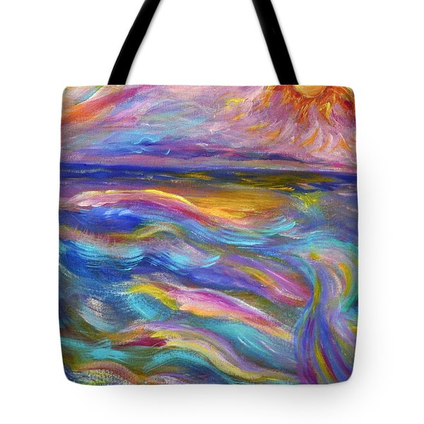 A Peaceful Mind - Abstract Painting Tote Bag