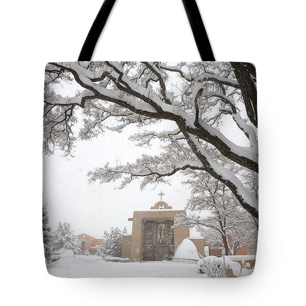 A Peaceful Winter Scene Tote Bag