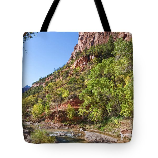 Tote Bag featuring the photograph A Peaceful Zion by John M Bailey