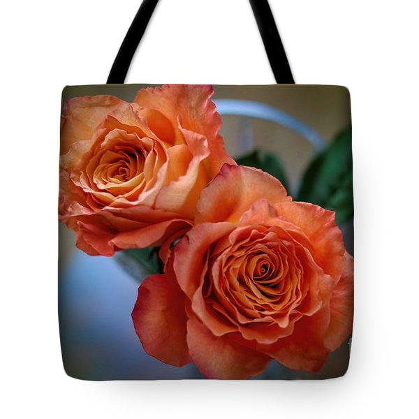Tote Bag featuring the photograph A Peach Delight by Diana Mary Sharpton