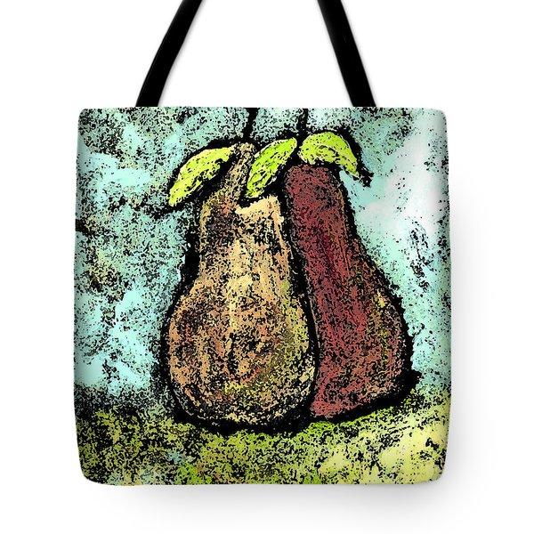A Pear Pair Tote Bag by Wayne Potrafka