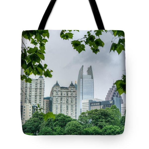 A Peek At The Atlanta Skyline Tote Bag