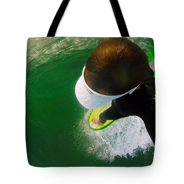 A Pelican's View Tote Bag by William Love