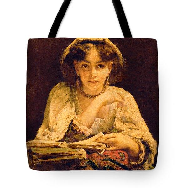 A Pensive Moment Tote Bag by John Ballantyne