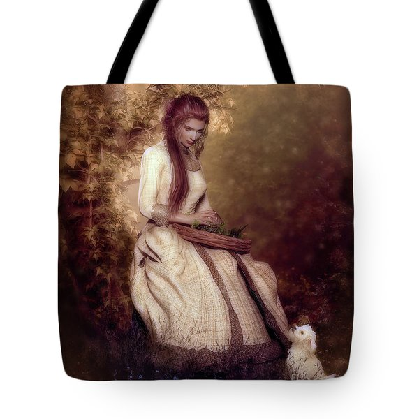 Tote Bag featuring the digital art Lost In Thought by Shanina Conway