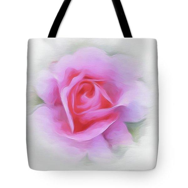 A Perfect Pink Rose Tote Bag