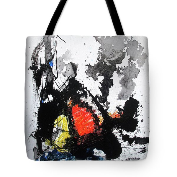 Tote Bag featuring the painting A Perfect Storm by Rick Baldwin
