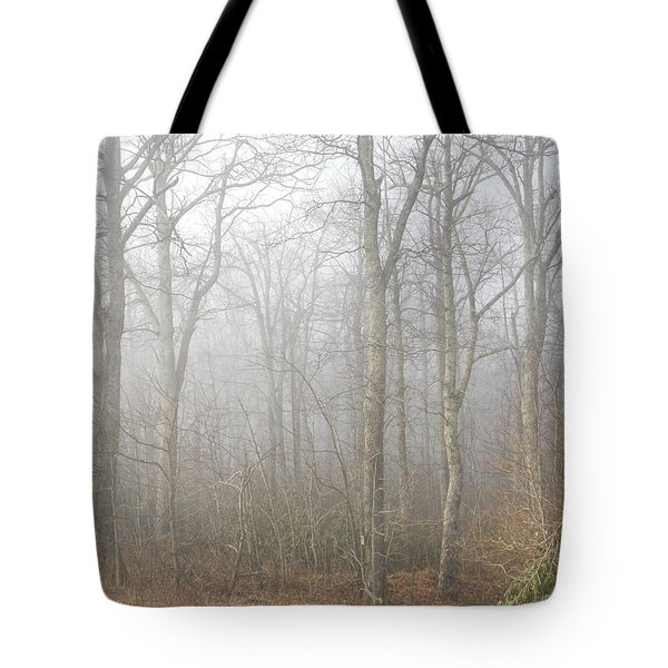 Tote Bag featuring the photograph A Perfectly Beautiful Foggy Morning by Diannah Lynch
