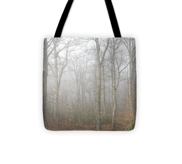 A Perfectly Beautiful Foggy Morning Tote Bag by Diannah Lynch