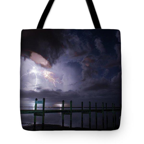 A Pier With A View Tote Bag by Quinn Sedam