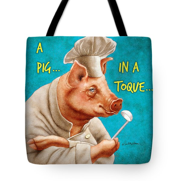 A Pig In A Toque... Tote Bag