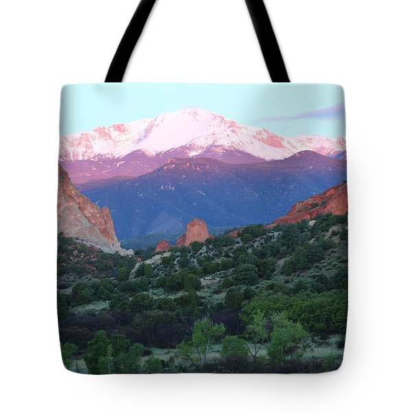 A Pikes Peak Sunrise Tote Bag
