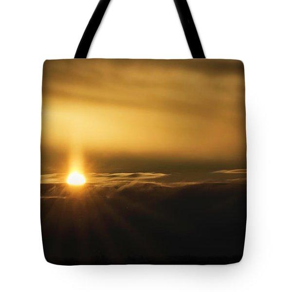 A Pillar Of Golden Light Tote Bag by Brad Allen Fine Art