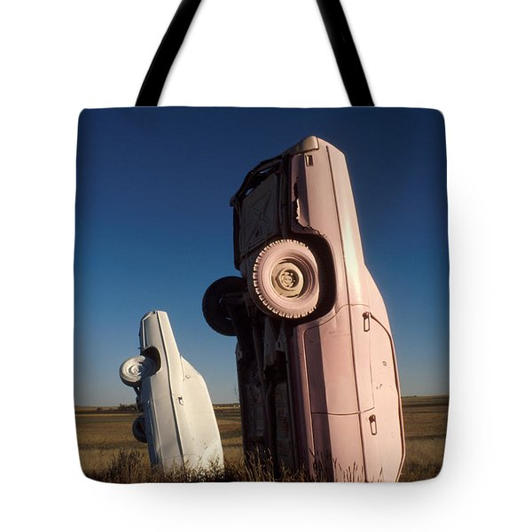 A Pink Caddilac In The Morning Tote Bag by Jerry McElroy