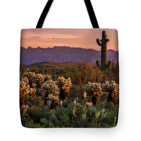 Tote Bag featuring the photograph A Pink Kissed Sunset  by Saija Lehtonen
