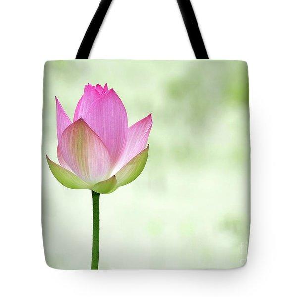 A Pink Lotus Tote Bag by Sabrina L Ryan