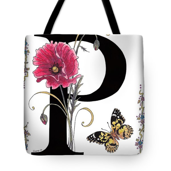 A Pink Poppy And A Painted Lady Butterfly Tote Bag