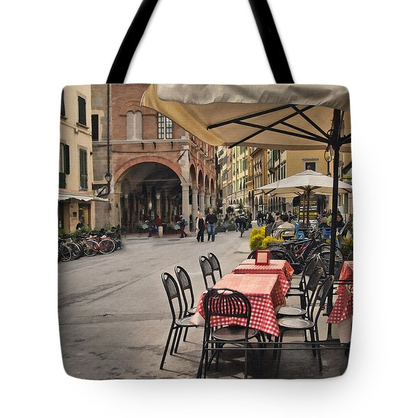 A Pisa Cafe Tote Bag by Sharon Foster