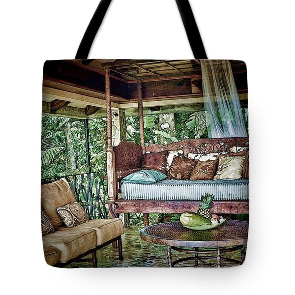 A Place To Retreat Tote Bag by Pamela Blizzard