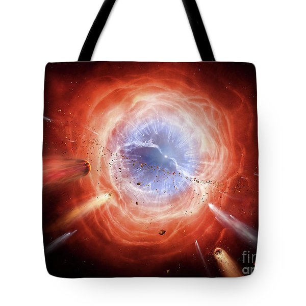 A Planetary Nebula Is Forming Tote Bag by Brian Christensen