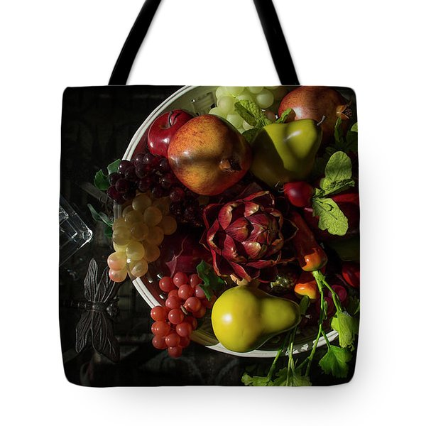 A Plate Of Fruits Tote Bag
