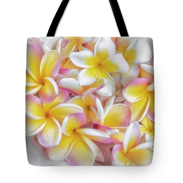 A Plate Of Plumerias Tote Bag