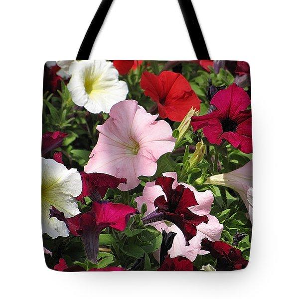 A Plethora Of Petunias Tote Bag