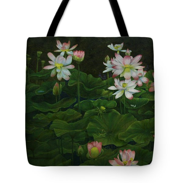 A Pond Full Of Water Lilies And Youtube Video Tote Bag