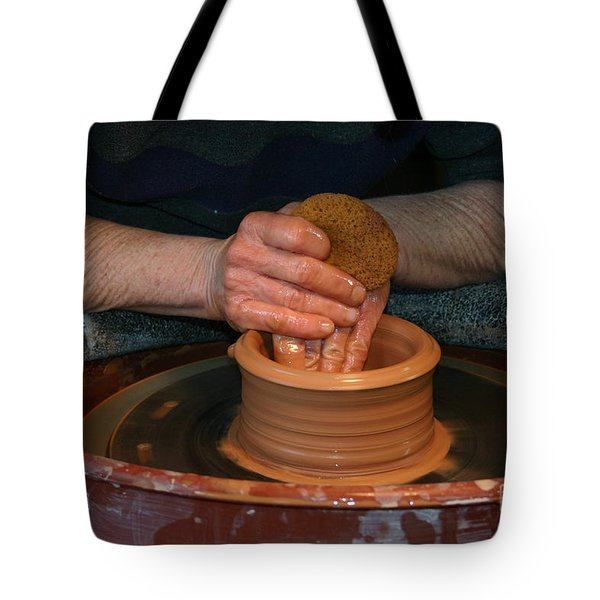 A Potter's Hands Tote Bag