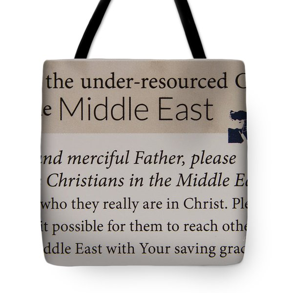 A Prayer For The Middle East Prayer Art Tote Bag